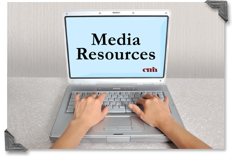 Laptop displaying Media Resources