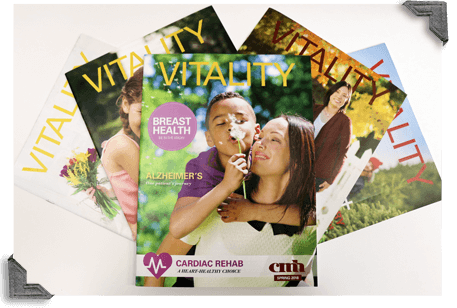 Stack of Vitality Magazines